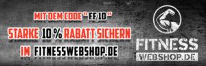 Rabattcode Banner für Fitnesswebshop.de