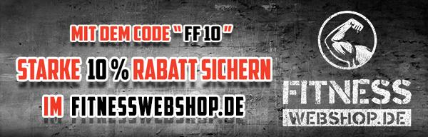 Fitnesswebshop 10% Rabatt Banner